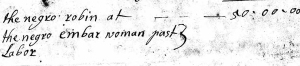 Excerpt from the 1724 inventory of Ensign Thomas Leffingwell of Norwich.