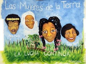 Mural; Las Mujeres de la Tierra.